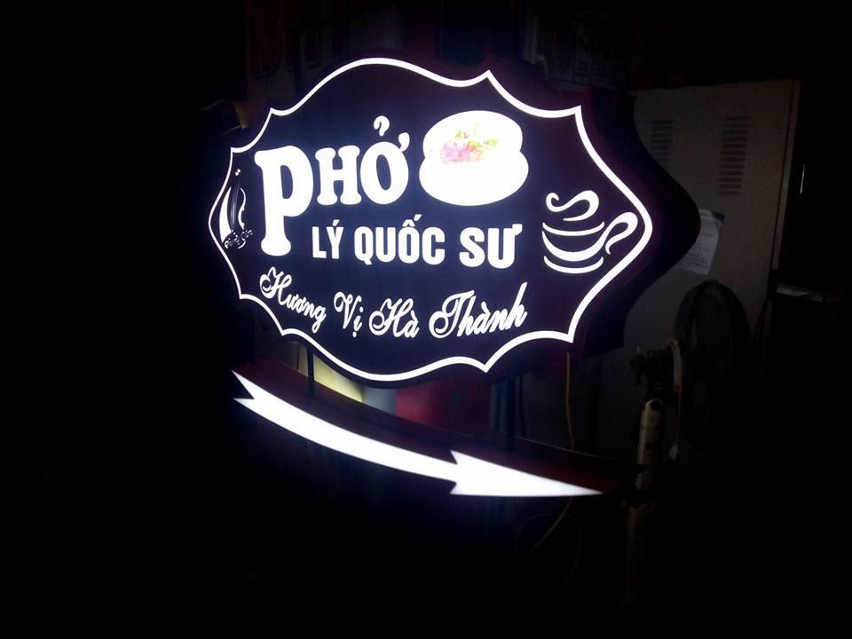 Làm biển hộp đèn âm bản tại Thanh Xuân