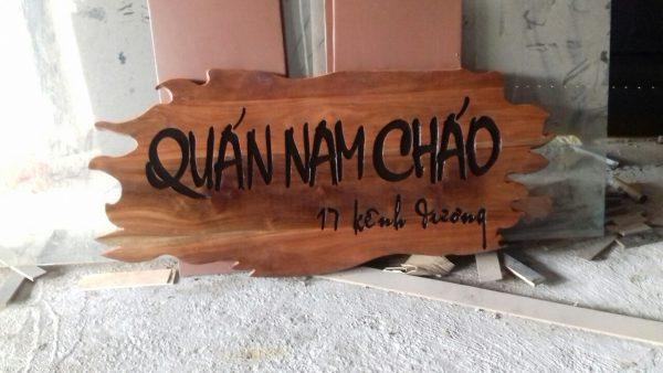 Làm biển gỗ tại Thanh Xuân