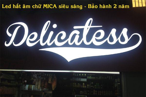 Làm biển hộp đèn âm bản tại Long Biên